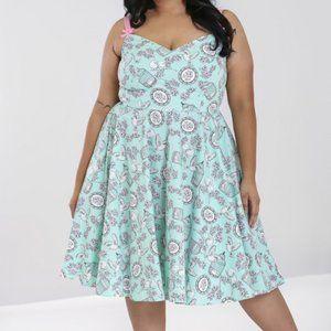 Hell Bunny Mint Green Plus Size Birdcage Dress 4X